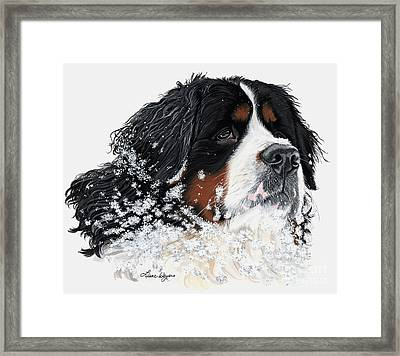 Frosty Outside With Frost Framed Print