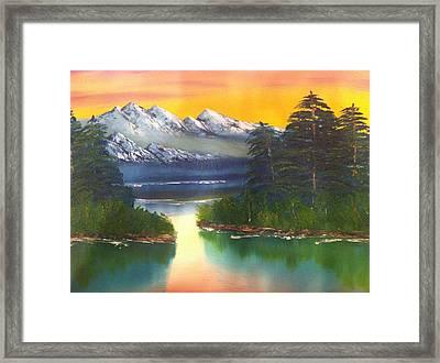 Frosty Peaks Framed Print by Bill Murray
