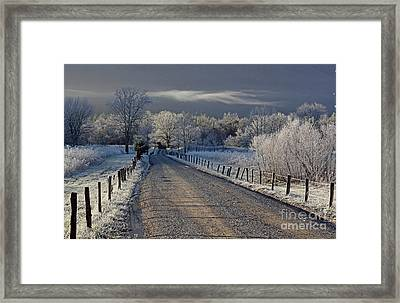 Frosty Sparks Lane Framed Print