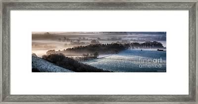 Frosty Spring Morning Panoramic Framed Print