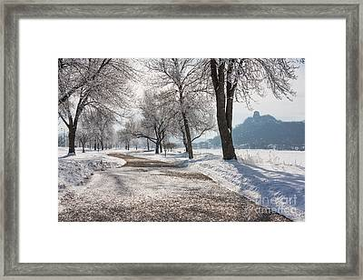 Frosty Stroll With Sugarloaf Framed Print