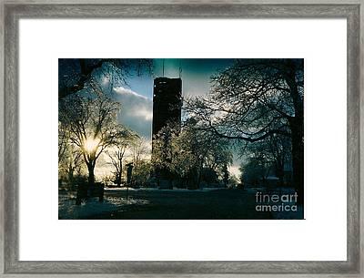 Frosty Sunrise At Tower Park Framed Print