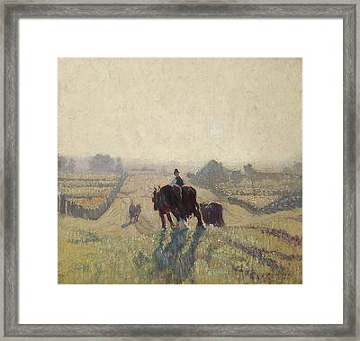 Frosty Sunrise Framed Print by Elioth Gruner