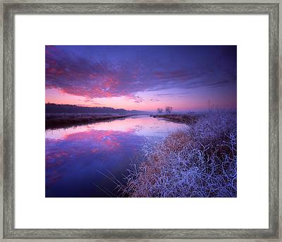 Frosty Sunrise Framed Print by Ray Mathis