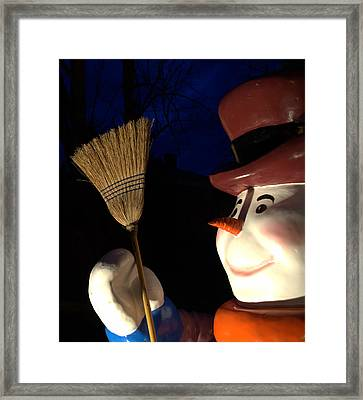Frosty The Snowman Framed Print