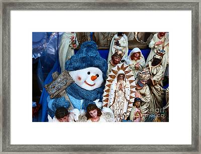 Frosty The Snowman Framed Print by James Brunker