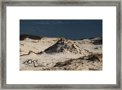 Frosty White Dunes Framed Print