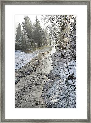 Framed Print featuring the painting Frozen Air by Felicia Tica