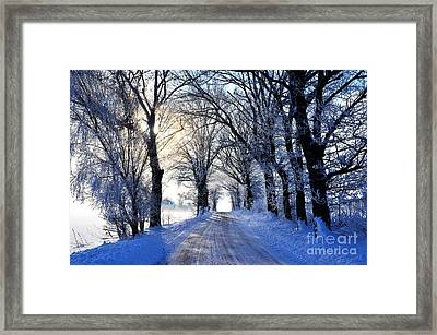 Frozen Alley Framed Print