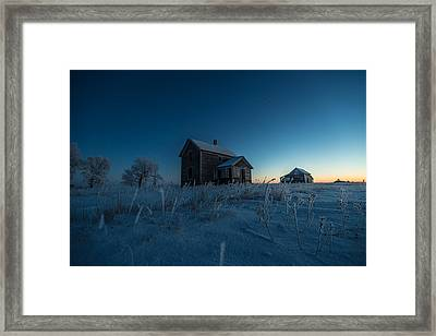 Frozen And Forgotten Framed Print