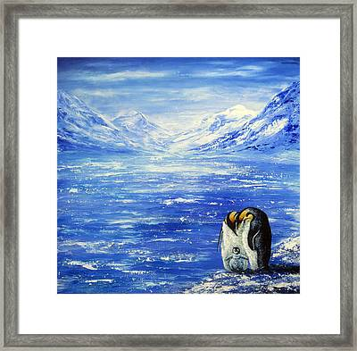 Frozen Framed Print by Ann Marie Bone