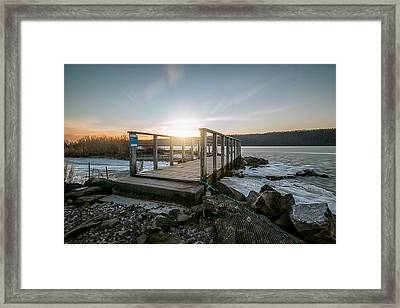 Framed Print featuring the photograph Frozen by Anthony Fields