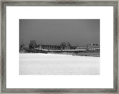 Frozen Bay Bridge Framed Print
