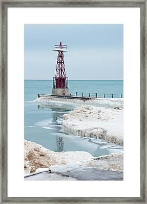 Frozen Beach Framed Print by Kathleen Scanlan