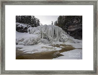 Framed Print featuring the photograph Frozen Blackwater Falls by Dan Friend