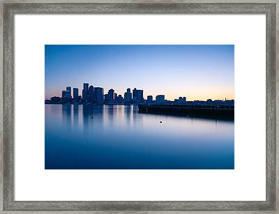 Frozen Boston Framed Print by Lee Costa