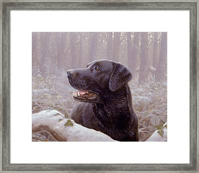 Frozen Breath Framed Print by John Silver