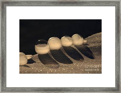 Frozen Bubbles Framed Print