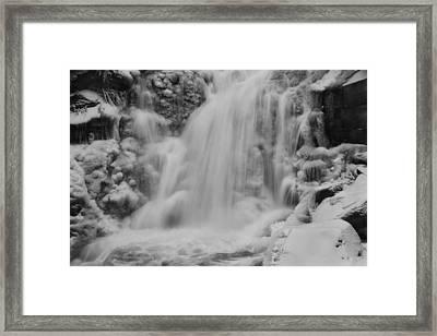 Frozen Calamity Framed Print