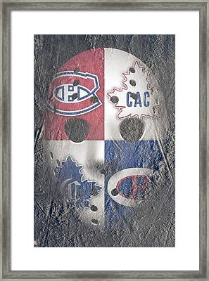Frozen Canadiens Framed Print by Joe Hamilton