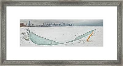 Frozen Chicago Framed Print