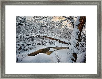 Frozen Creek Framed Print by Sebastian Musial