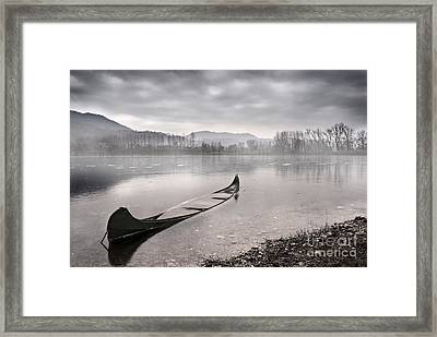 Frozen Day Framed Print by Yuri Santin