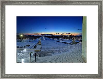 Frozen Dc Framed Print