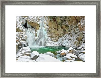 Frozen Emerald Framed Print by Bill Wakeley