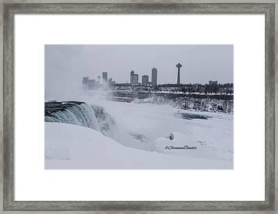Frozen Falls Framed Print by Shannon Bender
