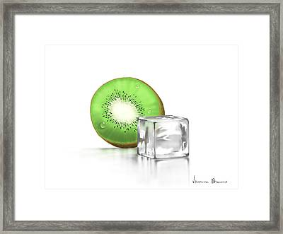 Frozen Fruit Framed Print by Veronica Minozzi