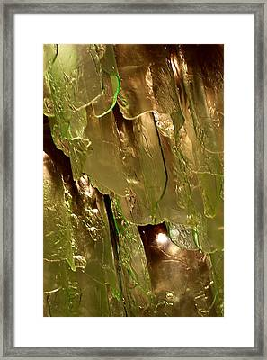 Frozen Glass Framed Print