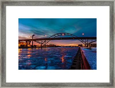Frozen Hoan Bridge Framed Print