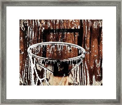 Frozen Hoop Framed Print