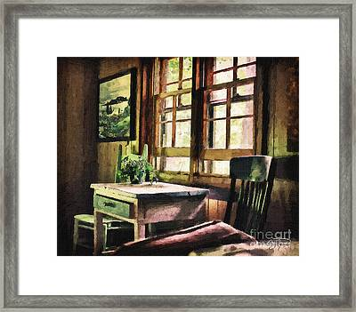 Frozen In Time - Oil Texture Framed Print by Cris Hayes