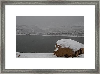 Frozen Inlet Framed Print by Harry Strharsky