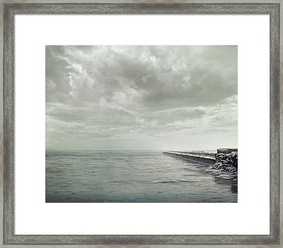 Frozen Jetty Framed Print