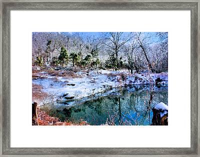 Frozen Framed Print by Kristin Elmquist