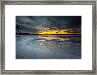 Frozen Lake Benton Framed Print
