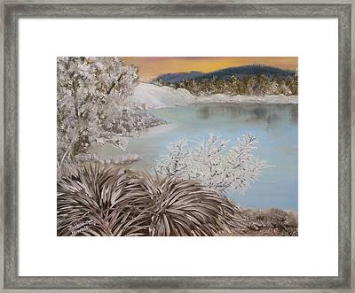 Frozen Lake Framed Print