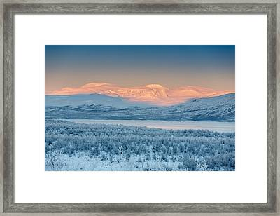 Frozen Landscape, Cold Temperatures Framed Print by Panoramic Images