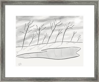 Frozen Landscape Framed Print by Stacy C Bottoms