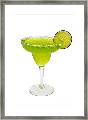 Frozen Margarita With Lime Isolated Framed Print