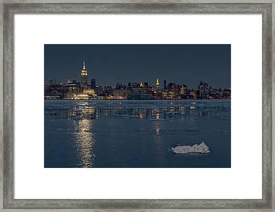 Frozen Midtown Manhattan Nyc Framed Print by Susan Candelario