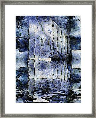 Frozen Monoliths Framed Print by Wendy J St Christopher