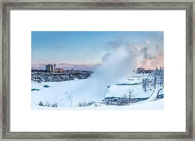 Frozen Niagara N1 Framed Print