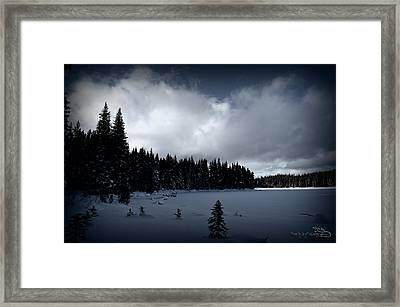Framed Print featuring the photograph Frozen Nickel Plate Lake by Guy Hoffman