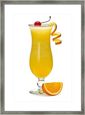 Frozen Orange Drink Framed Print by Elena Elisseeva