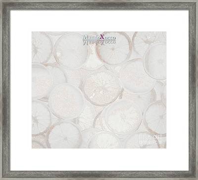 Frozen Orange Framed Print