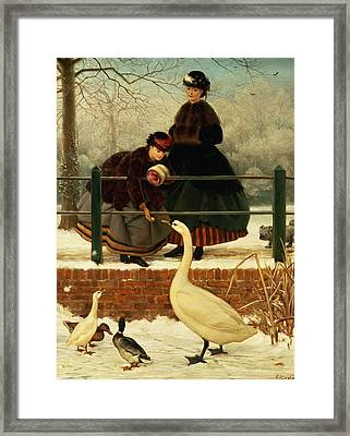 Frozen Out Framed Print by George Dunlop Leslie